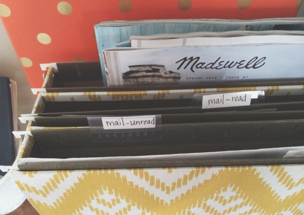 an organized home: paperwork + mail
