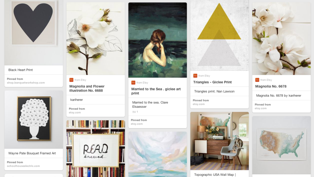 pinterest for creating a gallery wall