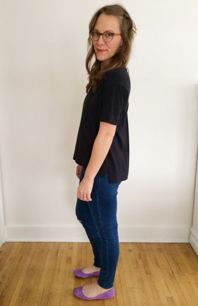 Everlane Drop Shoulder Tee Review | Lindsey Kubly Blog