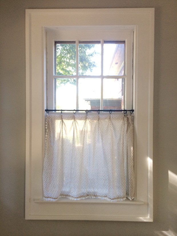 Our Home The Kitchen Diy Cafe Curtains Lindsey Kubly