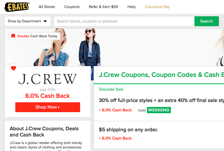 how to use EBATES to earn cash back when shopping online