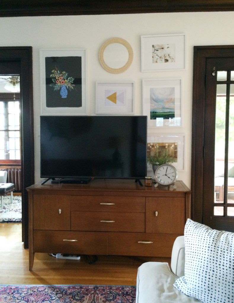 our house: tv + gallery wall