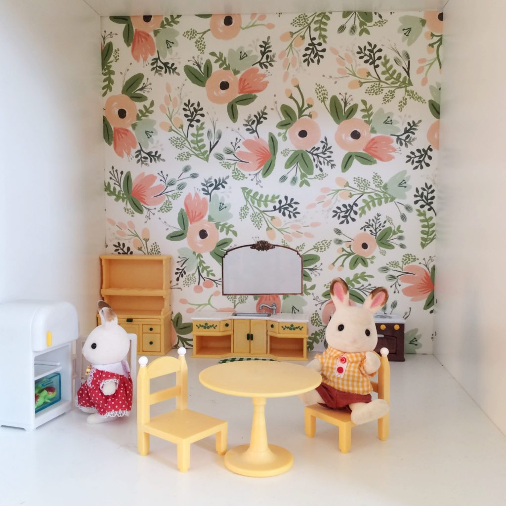 Simple DIY Bookcase Dollhouse with Calico Critters