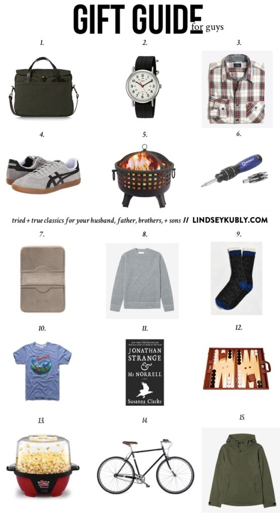 2016 Gift Guide for Men, tried + true gifts for your husband, brother, father, and son | Lindsey Kubly Blog