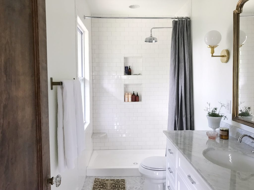 a simple + classic master bathroom: the reveal | Lindsey Kubly
